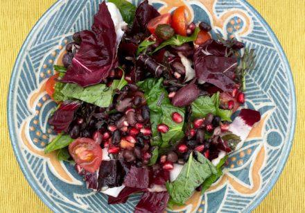 Radicchio-Pomegranate-Black Bean-Salad